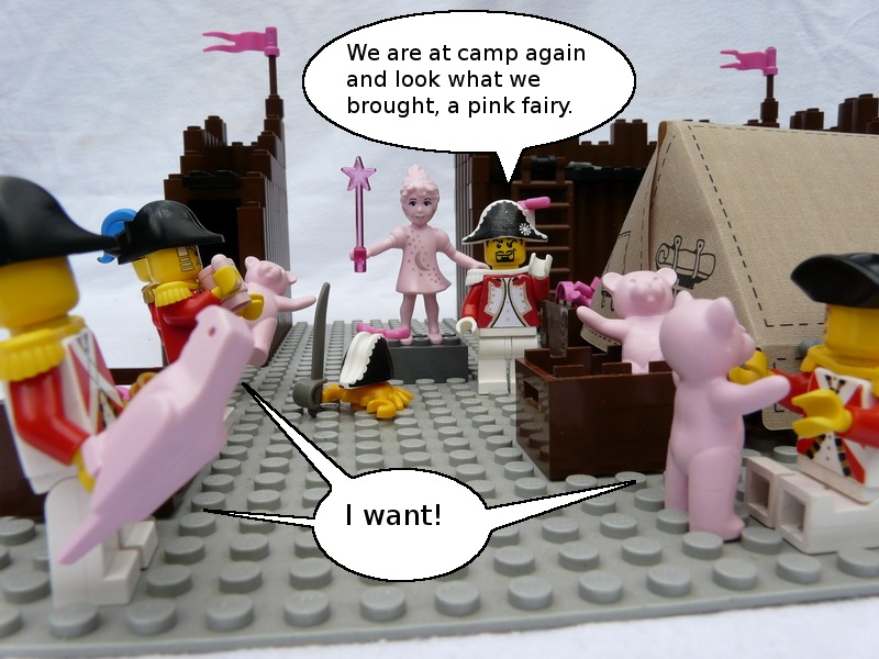Redcoats seem to love pink things!
