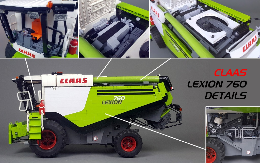 Rørig MOC] CLAAS LEXION 760 - LEGO Scale Modeling - Eurobricks Forums WE-75